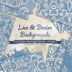 27 Denim Background Patterns with Lace Accents