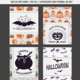 Freebies: Printable Halloween Cards and Gift Tags