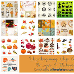 20+ Free Thanksgiving Clipart Designs and Vectors