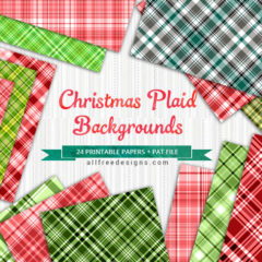24 Free Christmas Plaid Patterns and Digital Papers