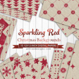 15 Free Red Sparkling Holiday Background Patterns