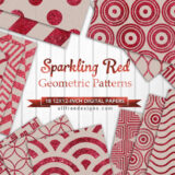 18 Red Glitter Background Pattern in Geometric Designs