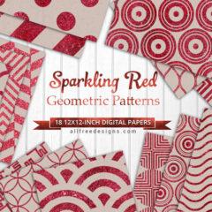 18 Red Glitter Background Pattern in Geometric Designs