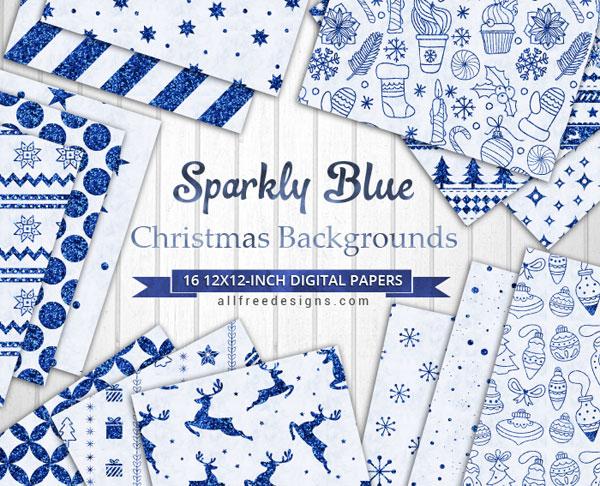sparkly blue background