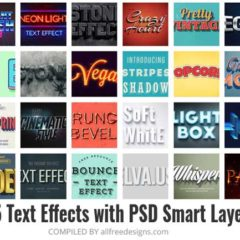 35 Cool Text Effects Using Smart Layers in Photoshop