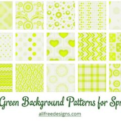 25 Lively Green Background Patterns for Spring Designs