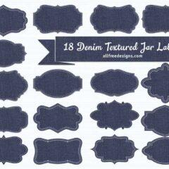 Free Printables: 18 Denim Textured Jar Labels