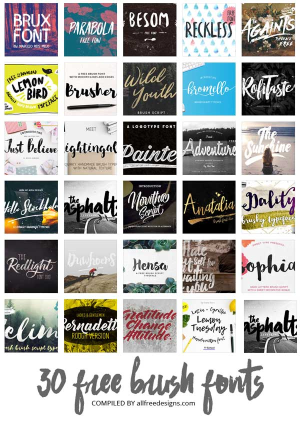 paint brush fonts