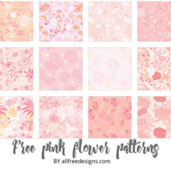 400+ Free Flower Patterns and Swirls Backgrounds for Photoshop