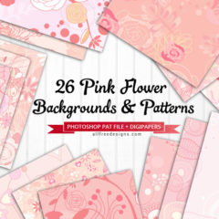 26 Free Pink Flower Background Patterns and Digital Papers