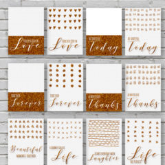 12 Glittery Gold Printable Love Cards for Valentine's Day
