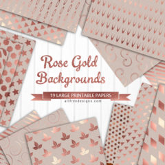 Free Printable Rose Gold Backgrounds with Geometric Patterns