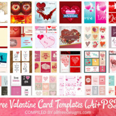 100+ Free Editable Valentine Card Templates in Vector and PSD Formats