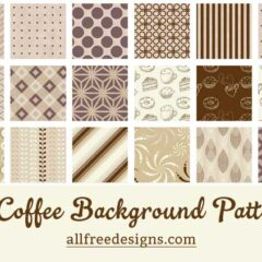 18 Coffee-Themed Background Patterns Plus Digital Papers