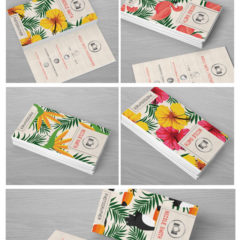 4 Photographer Business Cards With Tropical Vibe