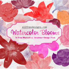 Exclusive: 16 Beautiful Spring Watercolor Flower Brushes