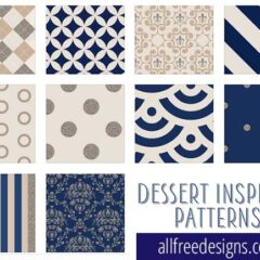 10 Free Navy Blue Background Designs with Beige and Silver Accents