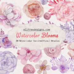 25 Free Watercolor Floral Brushes for Spring and Summer Designs