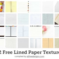32 High-Quality Lined Paper Textures to Download Free