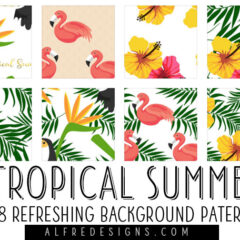 8 Free Tropical Background Patterns for Summer 2017