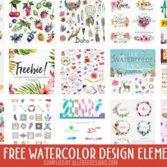 500+ Watercolor Design Elements to Download Free