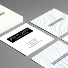 Mini Business Cards: 4 Free Double Sided PSD Templates