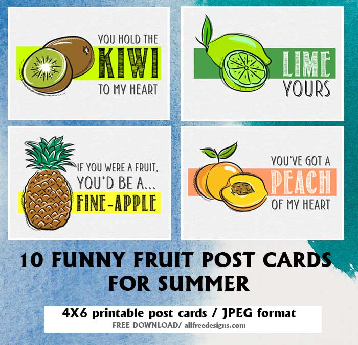 printable post cards