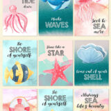 8 Free Summer Post Card and Gift Tag Designs to Download and Print