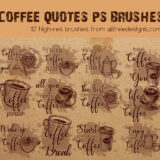 12 Coffee Lettering and Quotes Brushes for Photoshop CS+