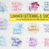 Famous Summer Quotes: 12 Free Photoshop Brushes