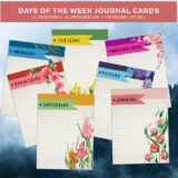 7 Free Journal Cards Featuring Days of the Week
