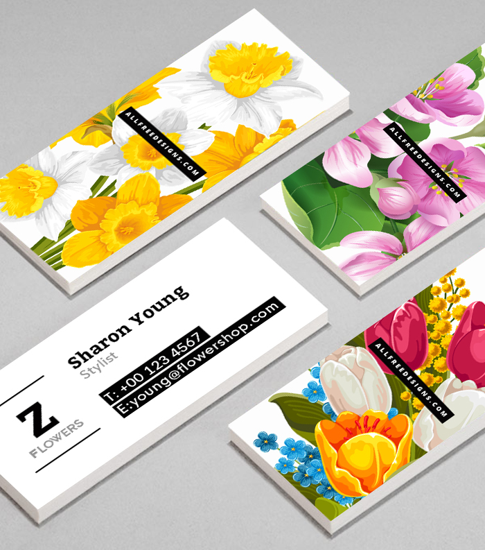 Skinny Business Cards: 3 Free Editable PSD Templates