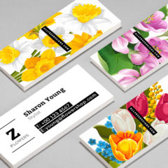 4 Lovely Skinny Business Cards in Free PSD Templates