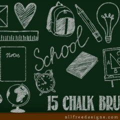 15 Free Chalk Photoshop Brushes for School-Related Design Projects