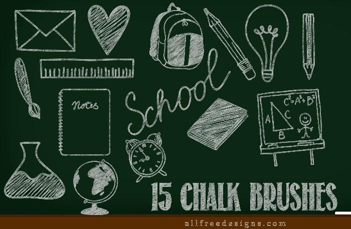chalk photoshop brushes