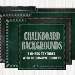 8 High-Res Chalkboard Background Textures with Decorative Borders