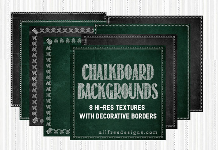 Chalkboard Background Textures With Decorative Borders