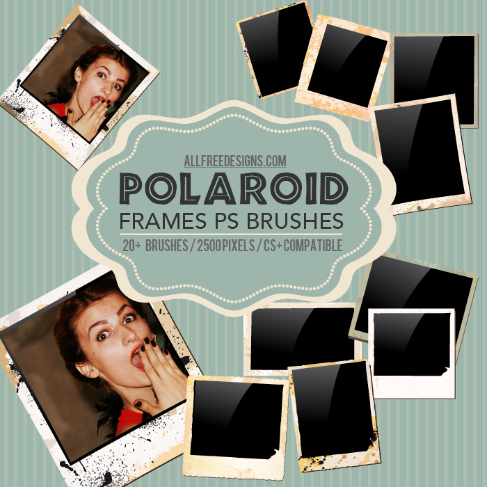 polaroid frames brushes