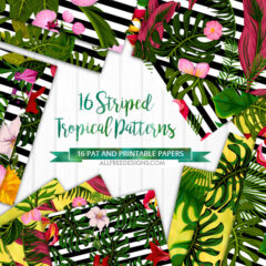 16 Luxurious Stripes Summer Patterns with Tropical Vibe