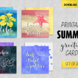 10 Printable Summer Greeting Cards with Feel-Good Quotes