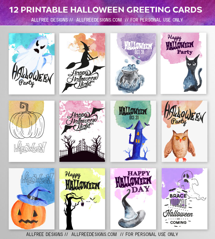 halloween greeting cards