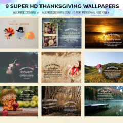 9 Free Super HD Thanksgiving Quotes Wallpaper Designs