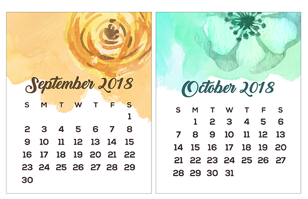 printable mini calendars