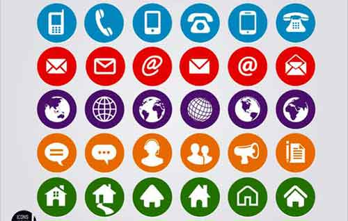 Contact icons 19 free sets useful for website design contact icons colourmoves