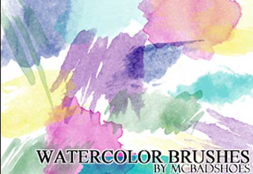 Watercolor Photoshop Brushes for Designing Creative Backgrounds