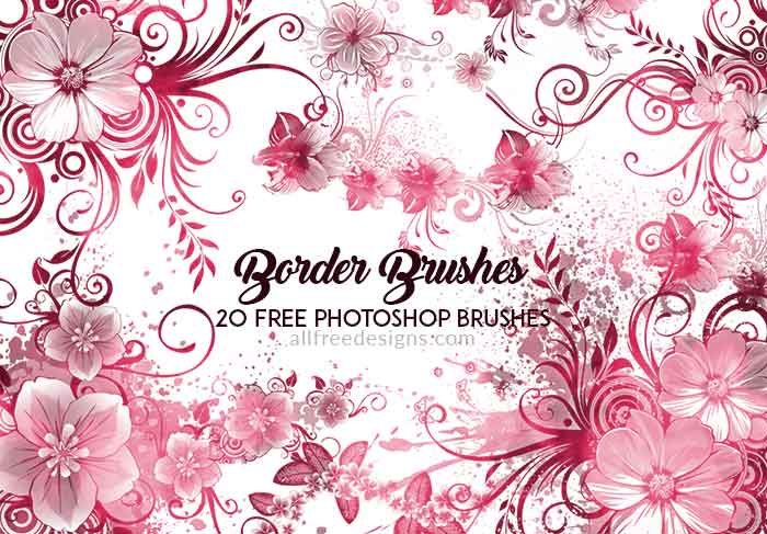 Flower Border Brushes for Enhancing Your Designs in Photoshop