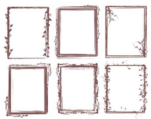 Photoshop Frames Brushes: 25 Grungy Borders for Your Photos