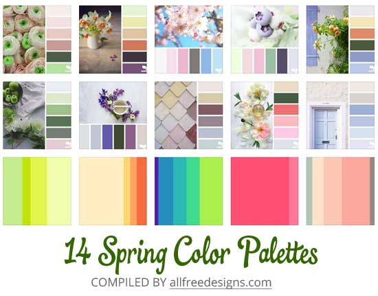 spring color palette options 25 combinations for your designs