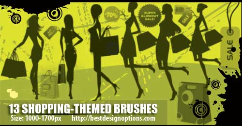 Shopping Clip Art Photoshop Brushes Free to Download