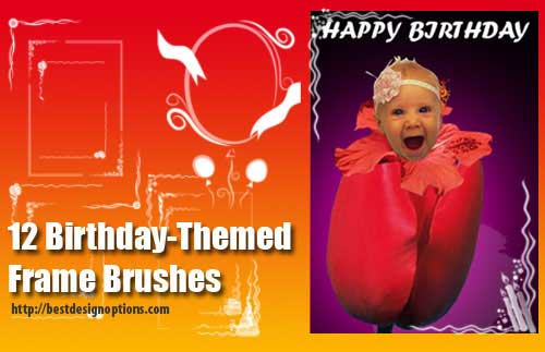 Frames Clip Art Brushes for Photoshop for Framing Your Photos